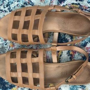 Madewell the Rowan Cage Sandals 7.5
